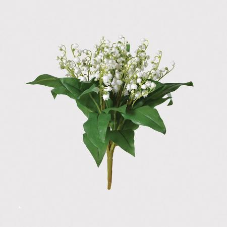 2 x Artificial White Lily Of The Valley Bunch