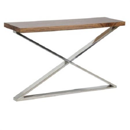 Apex Chrome/Dark Wood X-Frame Console Table