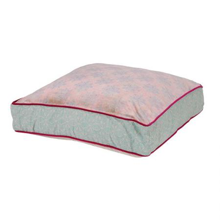 Large Pink & Blue Patterned Floor Cushion
