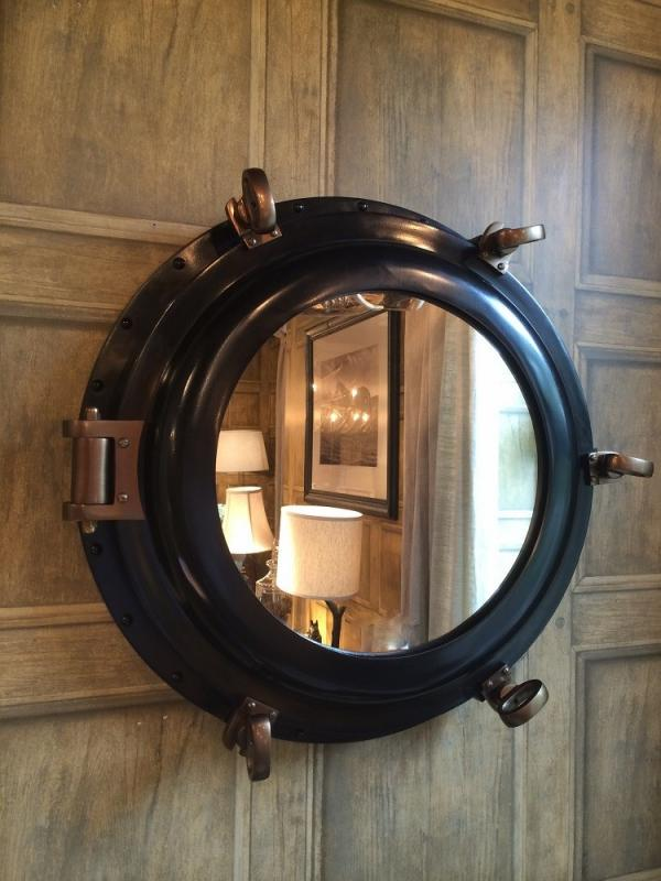 nautical black porthole mirror oops just sold out please contact us for updates