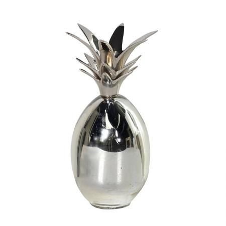 Chrome Pineapple Candle Holder