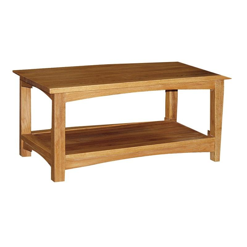 Brooklyn Solid Oak Coffee Table With Shelf Mulberry Moon