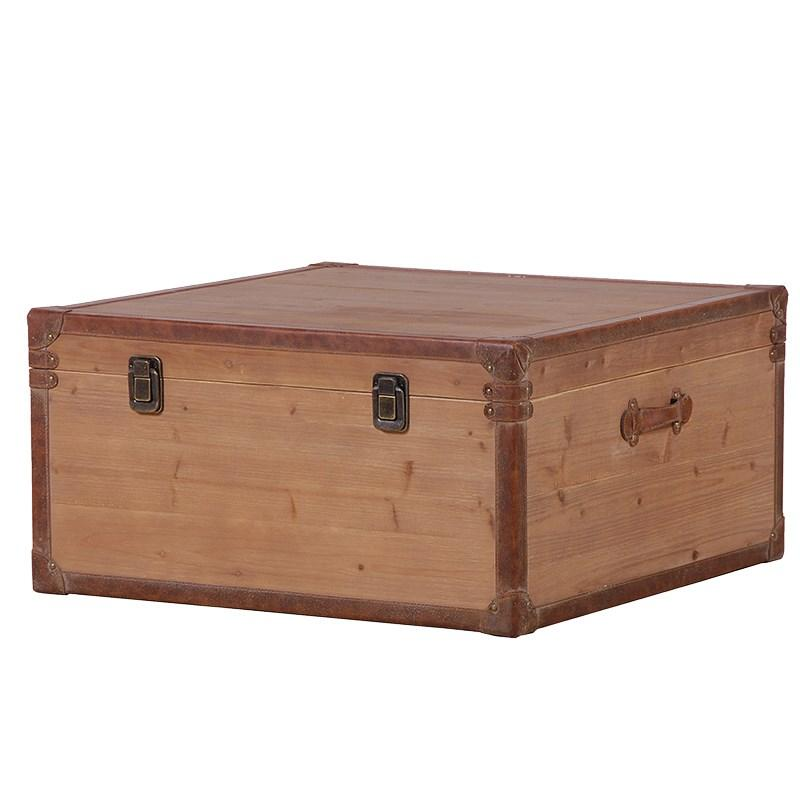 Solid Wooden Coffee Table Storage Trunk Mulberry Moon