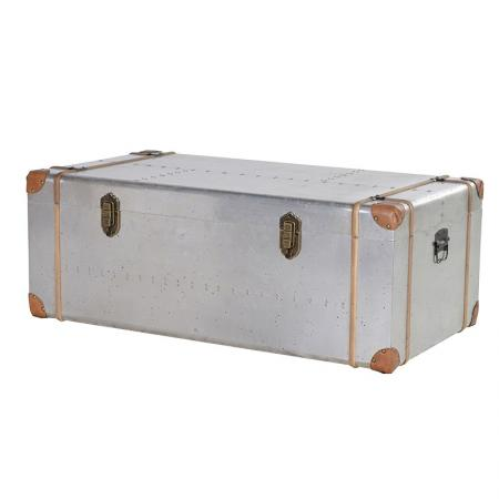Large Aluminium Metal Clad Trunk / Coffee Table
