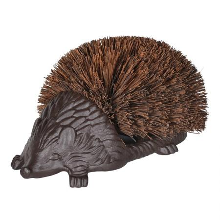 Large Cast Iron Hedgehog Boot Cleaner