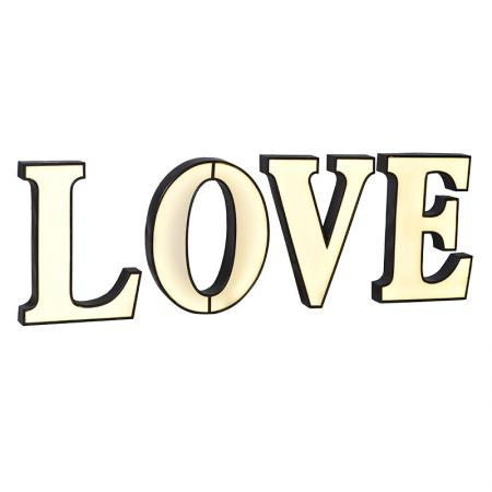 Huge Cream Light Up 'Love' Letters Sign