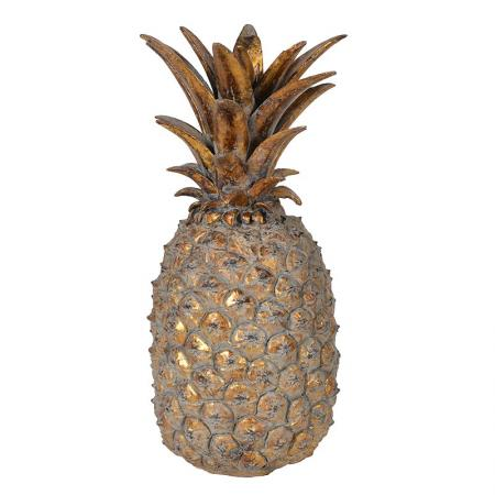 Large Gold Decorative Pineapple Sculpture