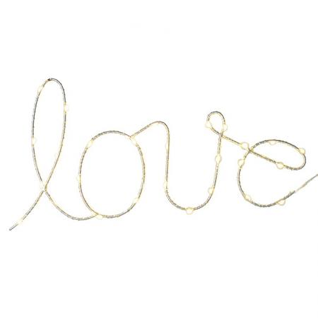 Light up 'Love' 30 Mini Led String