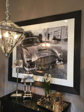 Extra Large Framed Aston Martin DB5 James Bond Car Picture