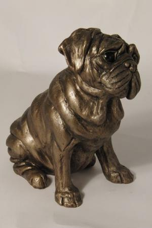 Rocky The Pug - Bronze Dog Sculpture by Harriet Dunn