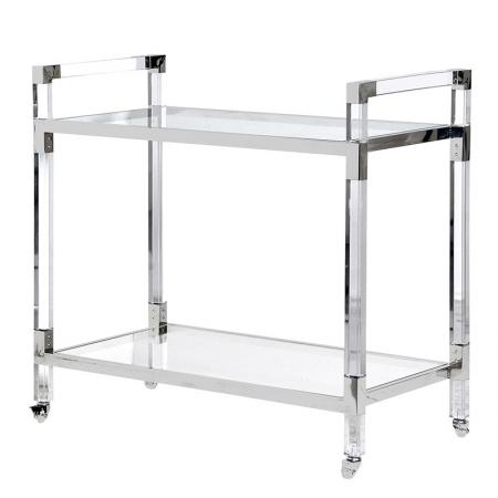 Acrylic & Glass Metal Buffet Cart / Drinks Trolley