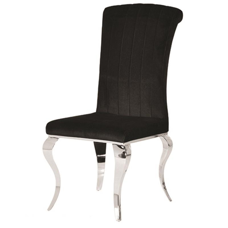 Black Velvet Style Amp Chrome Leg Dining Chair Mulberry Moon
