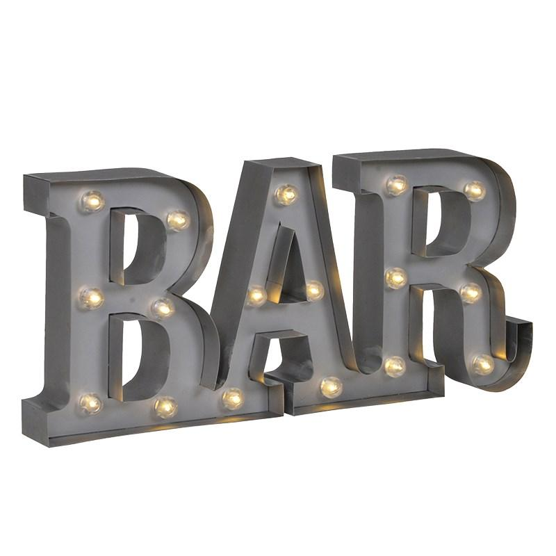 Grey metal led light up bar sign mulberry moon grey metal led light up bar sign aloadofball Image collections