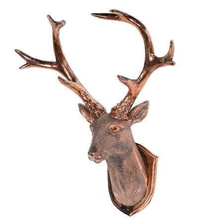 Copper Stag Head Wall Mount / Sculpture