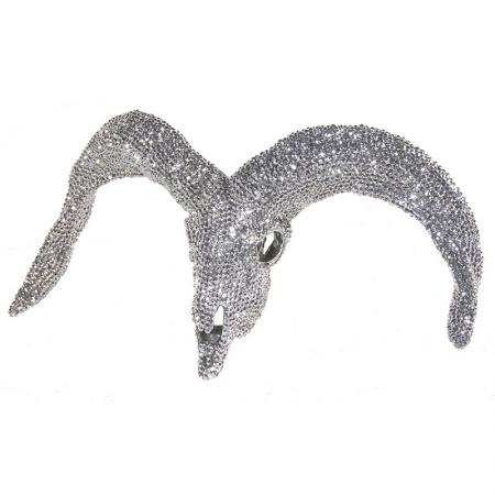 Bling Glitzy Sheep Skull Wall Sculpture