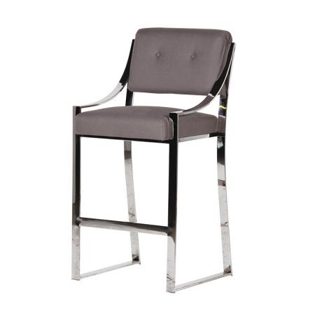 High Chrome York Bar Chair / Seat