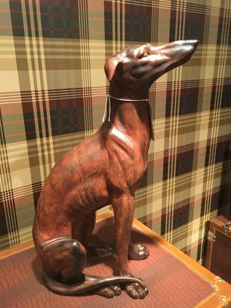 Greyhound Sitting Dog Sculpture