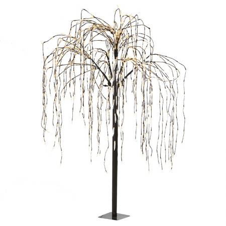 Huge Black Outdoor Willow Tree With Lights