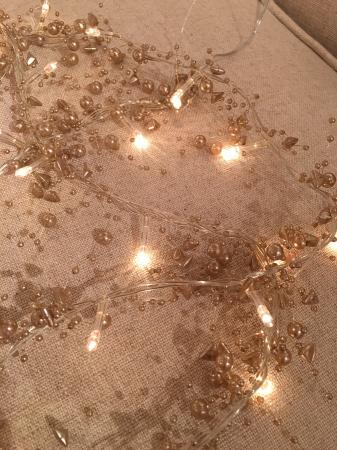 Champagne & Beaded Pearls Light Garland