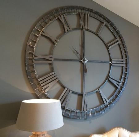 5ft Round Iron Skeleton Wall Clock