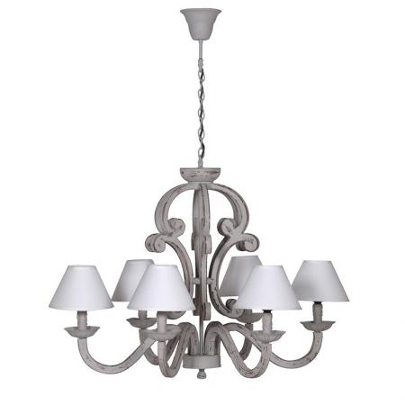 Large Cream Chandelier With 6 Cream Shades