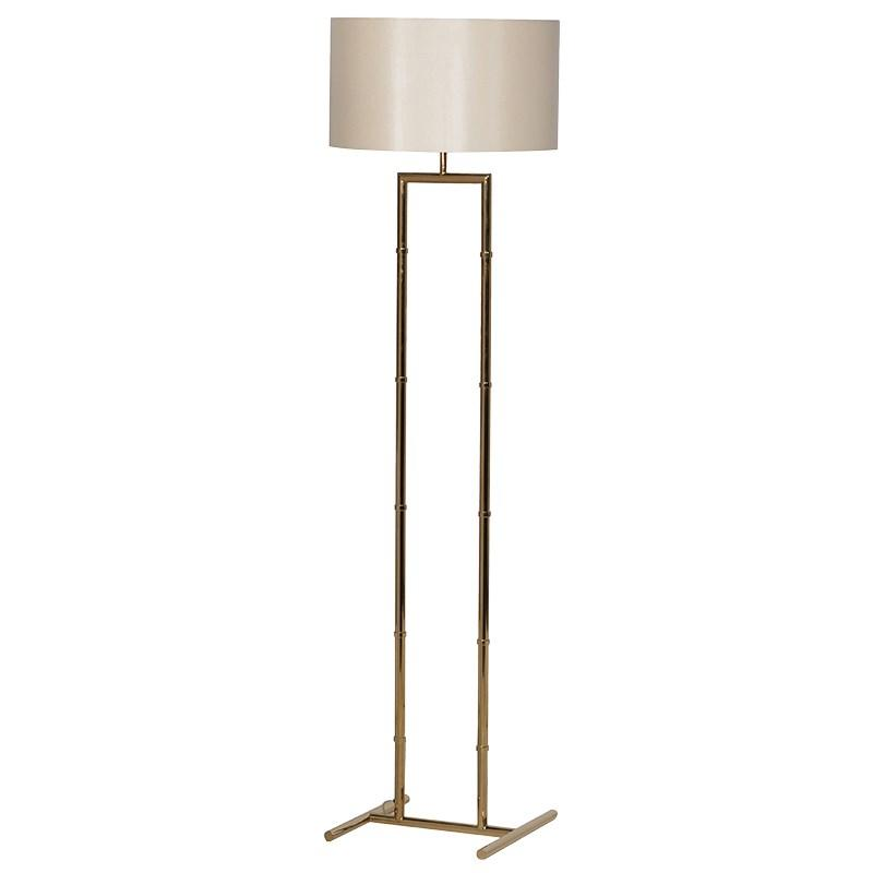 Large Metal Lamp Shade: Large Gold Metal Floor Lamp With Shade