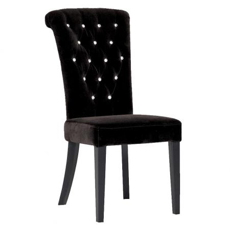 Black Velvet & Crystal Balmoral Dining Chair