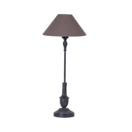 Black Thin Bedside Lamp With Shade