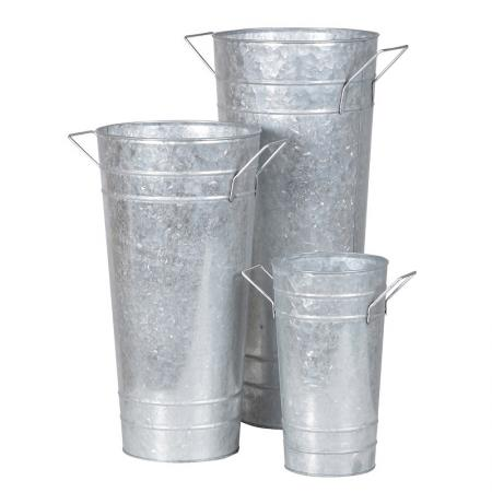 Set of 3 Metal Florist's Buckets / Vases