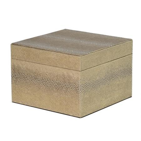 Large Gold Snakeskin PU Storage Box