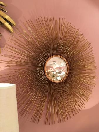 Large Round Gold Porcupine Mirror
