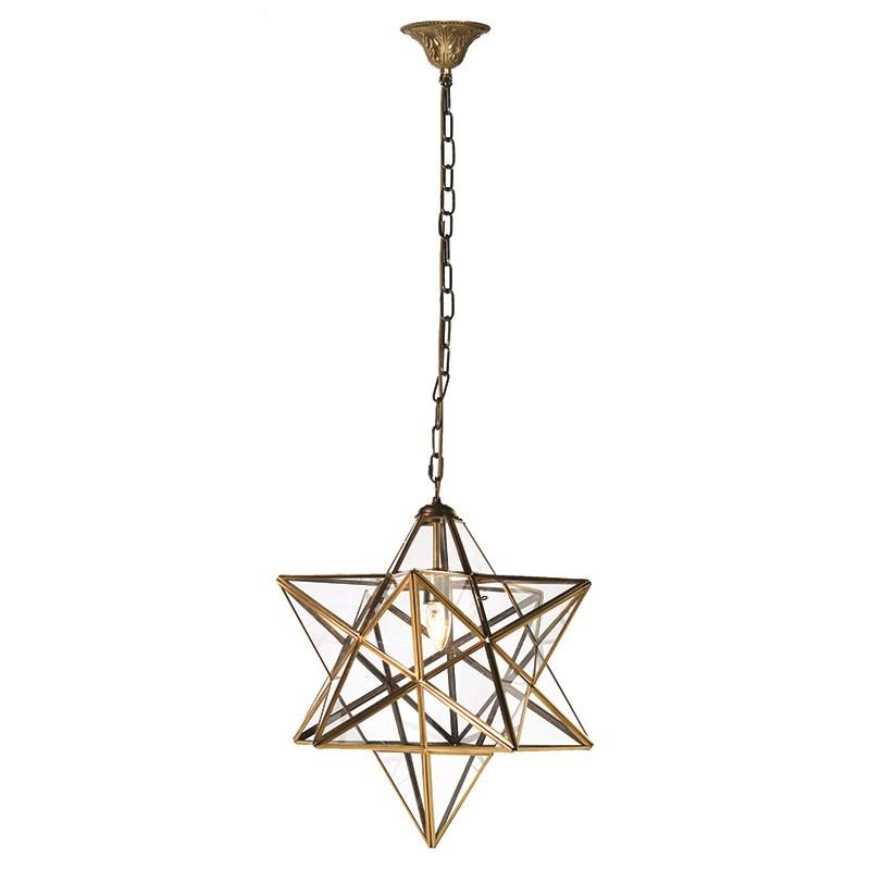 Gold glass star pendant light mulberry moon gold glass star pendant light mozeypictures Image collections