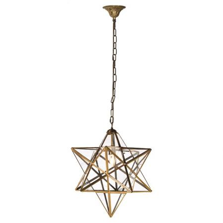 Gold & Glass Star Pendant Light
