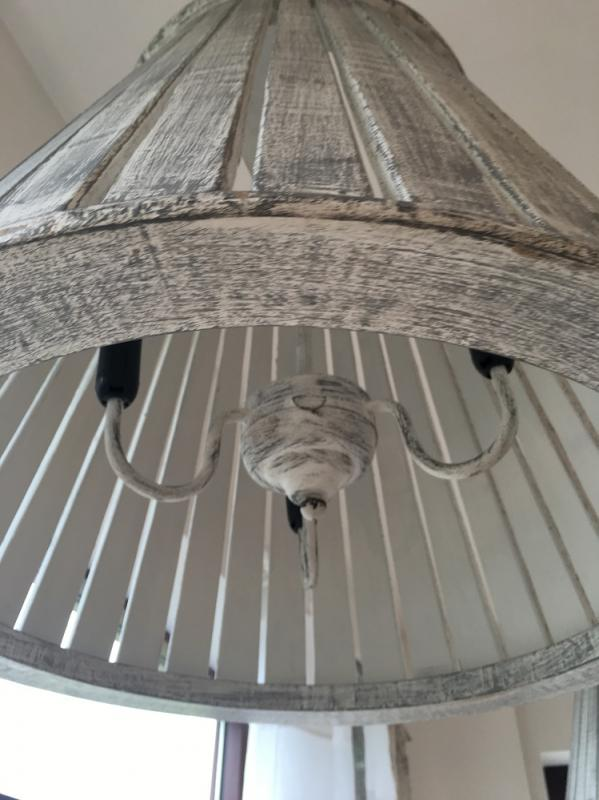 Large White Wash Pendant Ceiling Light Mulberry Moon