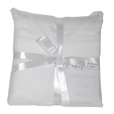 Chloe White Super King Duvet Set