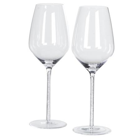 Boxed Set of 2 Crystal Red Wine Glasses