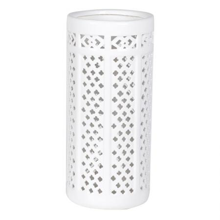 Contemporary White Ceramic Brolly/Umbrella Stand