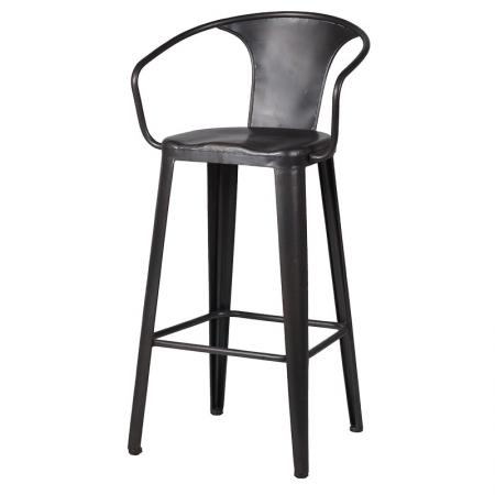 Grey Industrial Design Iron Bar Chair