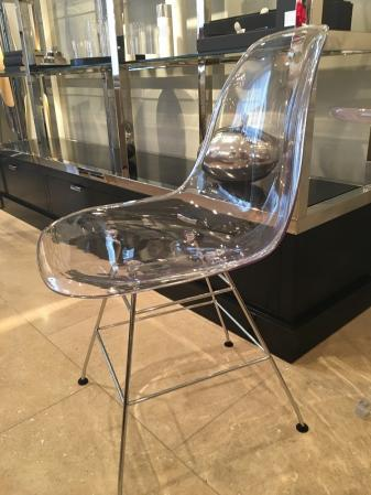 Chrome & Clear Perspex Ghost Chair