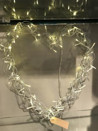 Large Wired Heart Light Up Wreath