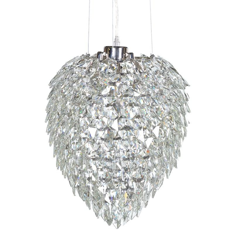 Stunning  Large Crystal Glass Chandelier
