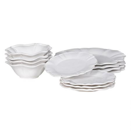 12 Piece White Dinner / Crockery Set