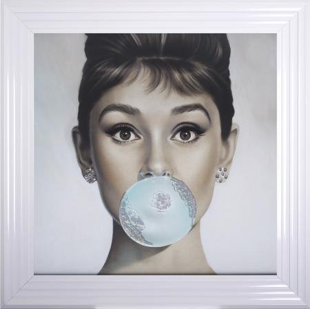Audrey Hepburn Bubble Gum Artwork