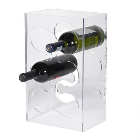 6 Bottle Acrylic Wine Rack