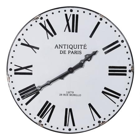 Extra Large Black & White Paris Wall Clock
