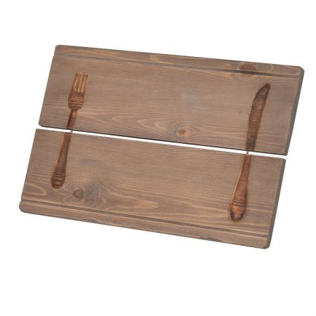 2 x Wooden Knife & Fork Placemats