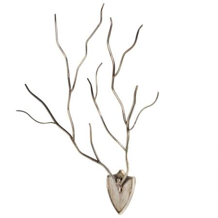Large Gold Twig Effect Wall Art Sculpture