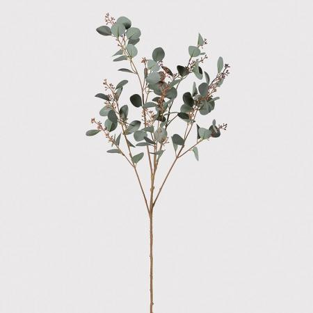 3 x Large Artificial Natural Eucalyptus Seed Stems