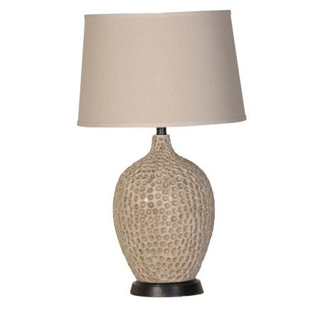 'Coral Reef' Table Lamp With Beige Shade