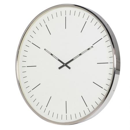 Large Contemporary Round Nickle Wall Clock